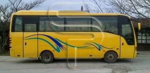 Облепяне на автобус с каст фолиа